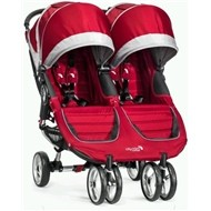 Baby Jogger City Mini Double -  Crimson / Gray