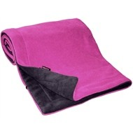 Emitex deka fleece  - Antracit-Fuchsie