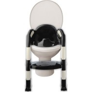 THERMOBABY židlička na WC Kiddyloo black/white